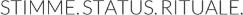 Stimme Status Rituale Logo